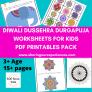 Printable Diwali Dussehra DurgaPuja activities for kids Pdf downloadable