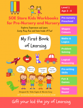 Preschool activity book Early learning Book front