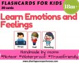 Emotions and Feelings Flashcards for kids   #Travelfriendly #Handmade by #moms #Flashcards #Learnemotions #tantrums