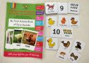 SOE Store Kids Farm Animals Activity Book. Complete Learning Pack for Kids (3-5 Years Nursery Toddlers Preschool prenursery) Small Activities Cards for Hands on Learning + Bonus Thick flashcards