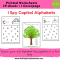I Spy Capital Alphabets Worksheets for kids 3 yrs and above – Alphabets recogition ( Cover Page + 29 Worksheets) #Printable #Worksheets