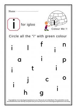 I Spy Small alphabets Worksheets (2)
