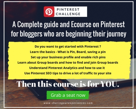 Pinterest Challenge - A Complete Pinterest Ecourse on Pinterest for beginners