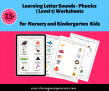 SOE Store Kids Learning Letter Sounds – Phonics (Level 1) Worksheets for kids 3.5 yrs and above (PDF Downloadable Worksheets)