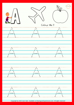 SOE store Kids Capital Alphabets writing activity book for kids Preschool Worksheets for kids (3-5 years Nursery toddlers preschool 1
