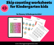 SOE Store Kids Skip counting worksheets for Kindergarten kids (Downloadable worksheets)
