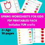 Printable Spring themed activities for kids Downloadable PDF