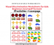 Visual Discrimination Worksheets for Toddlers Preschoolers PDF downloadable – 29 worksheets to teach concept of same and different
