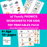 """""""at"""" word family phonics worksheets pdf downloadable"""