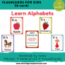 Alphabets Flashcards for kids   #Travelfriendly #Handmade by #moms #Flashcards #Learnalphabets #enhancevocabulary
