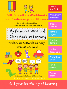 SOE store kids Early Learning Reusable wipe and clean Preschool worksheets